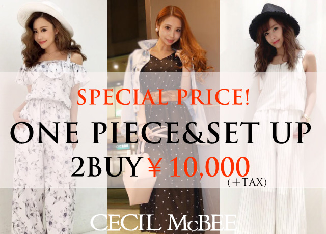 ONE PIECE・SET UP ITEM 2BUY ¥10,000(+TAX)