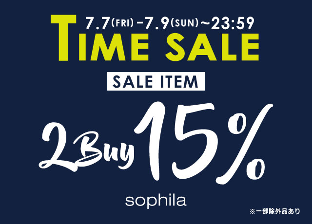 TIME SALE 2BUY15%OFF