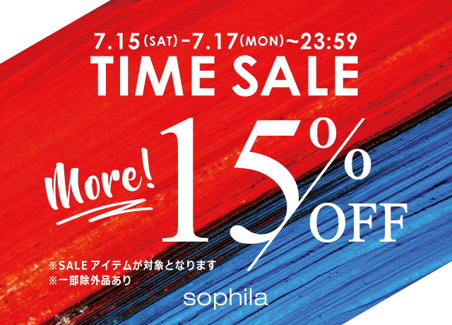 TIME SALE MORE15%OFF