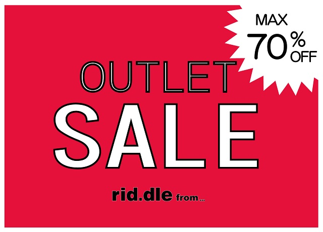 rid.dle from... OUTLET SALE!!