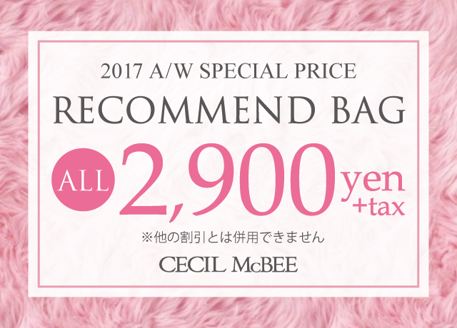 SPECIAL PRICE Recommend BAG ALL¥2,900+TAX