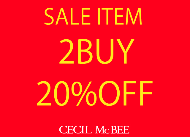 対象ITEM 2BUY 20%OFF
