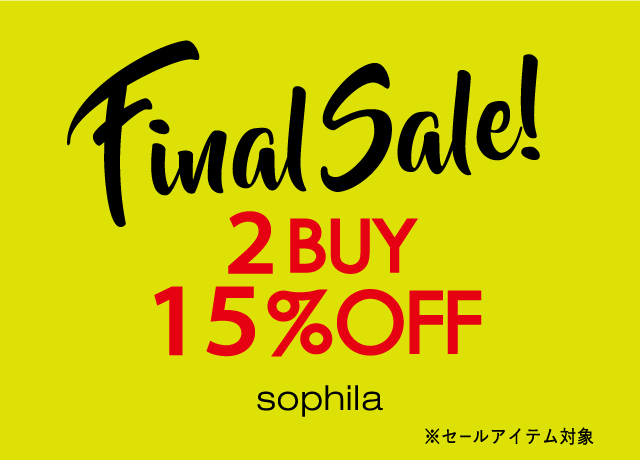 FINAL SALE 2BUY15%OFF!!