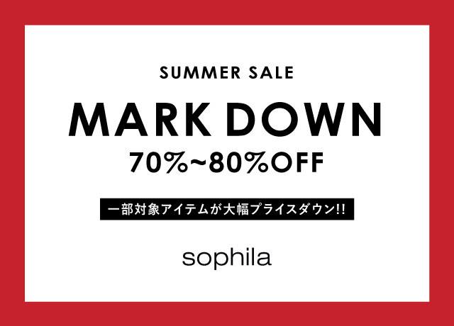【70~80%OFF】MARK DOWN!