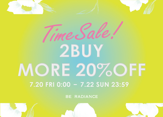 【72時間限定】SALE 2BUY MORE 20%OFF