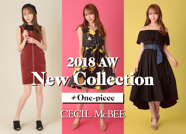 2018 AW<br>NEW COLLECTION<br>【ONE-PIECE】
