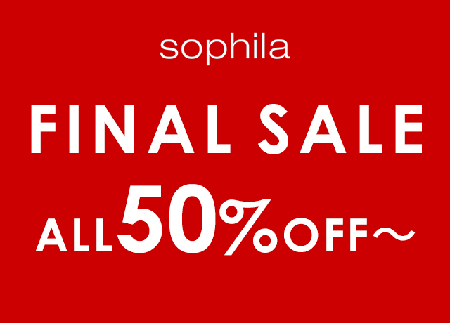 FINAL SALE ALL50%OFF~!