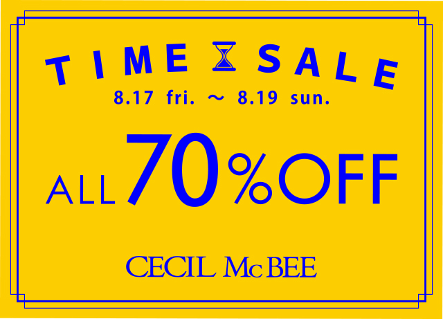 TIME SALE<br>ALL 70%OFF