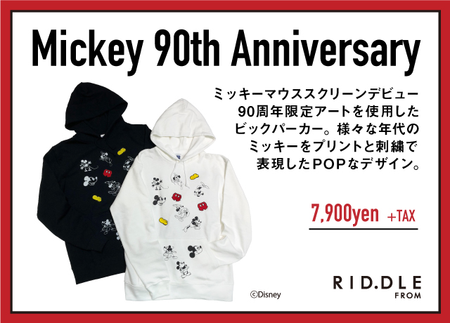 【RID.DLE FROM】<br>Mickey 90th Anniversary