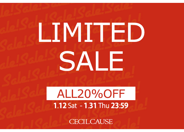 LIMITED SALE|全商品20%OFF!!