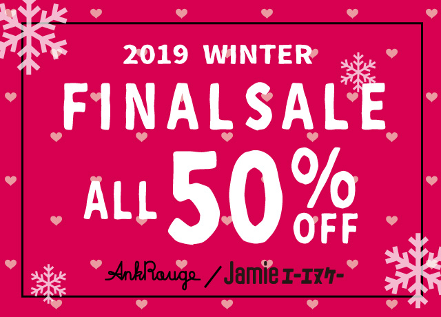 2019 WINTER FINALSALE ALL50%OFF