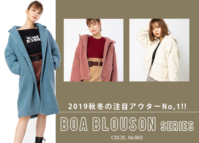 CECIL McBEE SELECTION<br>【BOA BLOUSON SERIES】
