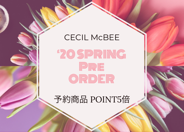 20 SPRING<br>PRE ORDER<br>【予約商品ポイント5倍】